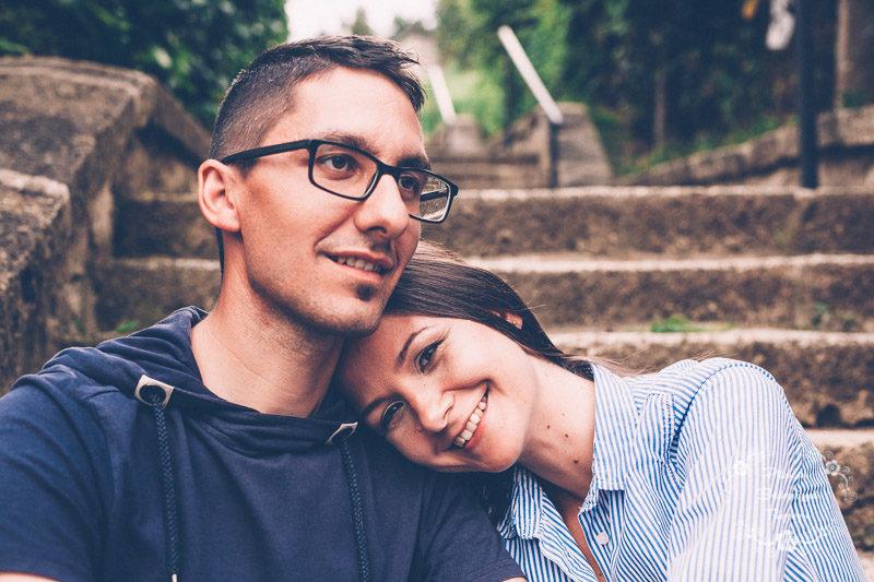 Dóri és Zsiga jegyes fotózása